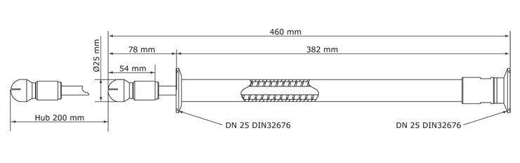 SR1000 Retraktor Abmessungen