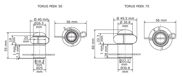 GEA Breconcherry Torus 50/75 PEEK Abmessungen