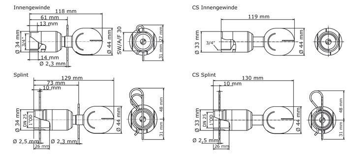 GEA Breconcherry Turbo SSB 75 Abmessungen